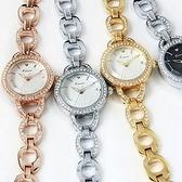 石英錶-鑲鑽環形高貴手鍊造型女手錶4色71r13[時尚巴黎]