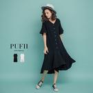 限量現貨◆PUFII-洋裝 不規則棉麻洋...