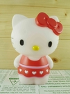 【震撼精品百貨】Hello Kitty 凱蒂貓~塑膠造型存錢筒~紅裙子