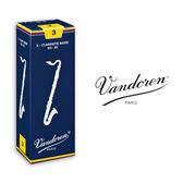 小叮噹的店- 法國 Vandoren BASS Traditional V5 豎笛/黑管竹片 藍盒 5片裝 BCL-V5