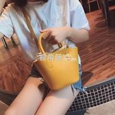斜背包 上新小包包女2019新款潮韓版百搭時尚斜背手提包水桶包『鹿角巷』