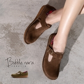 3M專利防潑水 花格子瑪莉珍厚底鞋。Bubble Nara波波娜拉。顯瘦腳T字小圓頭MAA3578