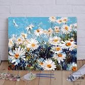 diy數字油畫客廳風景花卉動漫人物填色手繪涂色畫【時尚大衣櫥】