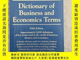 二手書博民逛書店Dictionary罕見of Business and Econ