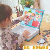 熱銷歐美 益智拼圖 磁性貼玩具 磁性書本 磁性積木 拼圖書 磁鐵拼圖 家家酒 積木【塔克】