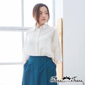 【Tiara Tiara】百貨同步ss 知性風前開襟襯衫上衣(白)