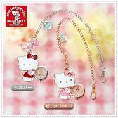 ♥♥小花花日本精品♥ Hello Kitty 鍊錶包包掛飾手鍊側姿小熊銀色99911805