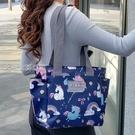 單肩包大容量單肩包女包手提包多功能媽咪包母嬰外出包包休閒布包旅行包 快速出貨