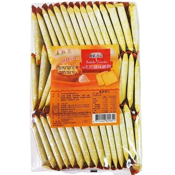 健康日誌洋芋脆餅-蒜味 408g【4711402825851】(馬來西亞零食)