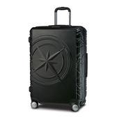 【Discovery Adventures】 指南針24吋拉絲拉鍊行李箱-黑(DA-A26041-24)