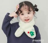 兒童保暖圍巾-寶寶嬰幼兒圍脖套秋冬韓版羊羔絨交叉加厚保暖小孩兒童圍巾男女童  喵喵物語