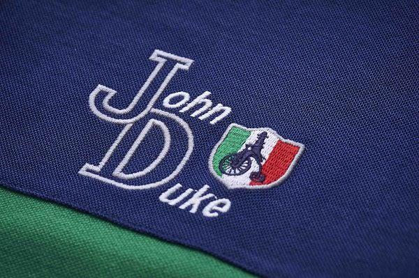 JOHN DUKE 異材質拼接機能POLO衫 - 灰/藍/綠