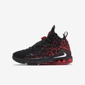 NIKE Lebron Xvii (gs) [BQ5594-006] 大童鞋 籃球 運動 氣墊 時尚 親子 穿搭 黑紅