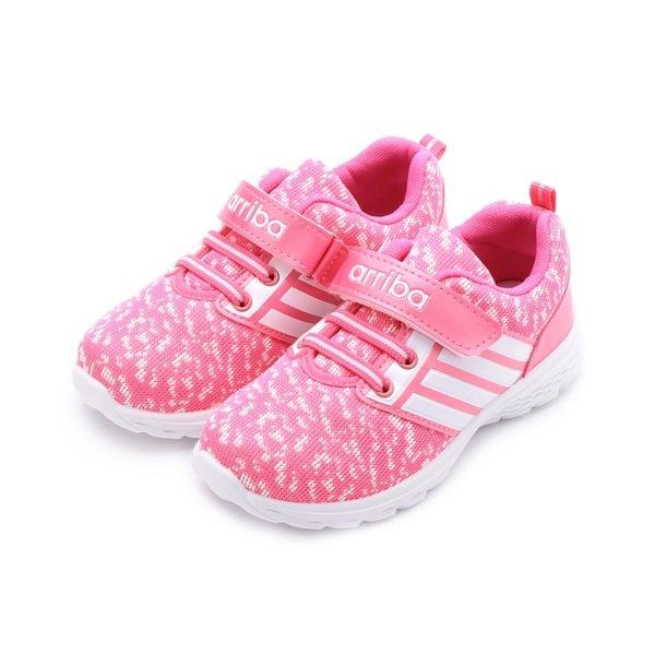 ARRIBA 數位迷彩四線運動鞋 粉 TD-6274 中大童鞋 鞋全家福