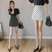 高腰半身裙2020夏季新款遮胯顯瘦包臀裙IG熱門款超火A字裙黑色修身短裙 居享優品