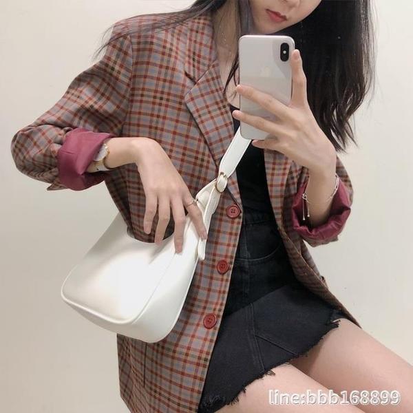 斜背包 包包女新款潮網紅斜背包女百搭ins大容量復古簡約軟皮單肩包 瑪麗蘇