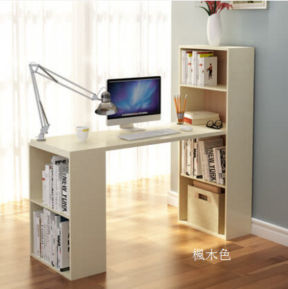 環保台式電腦桌轉角寫字桌家用書架組合書櫃辦公書桌子現代簡約5(首圖款)