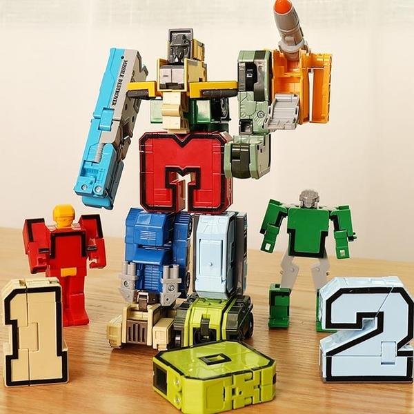 數字變形玩具金剛禮物益智機器人男孩全套兒童3-4字母6歲百變戰隊