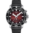 TISSOT Seastar 海星300米潛水石英錶-橡膠款(T1204171742100)紅