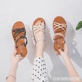 拖鞋女時尚夏季海邊沙灘鞋女士外出兩穿涼鞋網紅ins潮度假涼拖鞋 居家物语