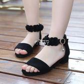 女童鞋涼鞋潮韓版夏季中大童女孩小高跟公主鞋兒童涼鞋女 俏腳丫