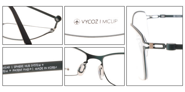 VYCOZ 光學眼鏡 BONS AQAAQ (綠) 薄鋼工藝簡約休閒款 # 金橘眼鏡
