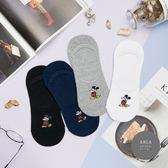 正韓直送 簡約米奇隱形襪(男)【K0527】 韓妞必備中筒襪 阿華有事嗎