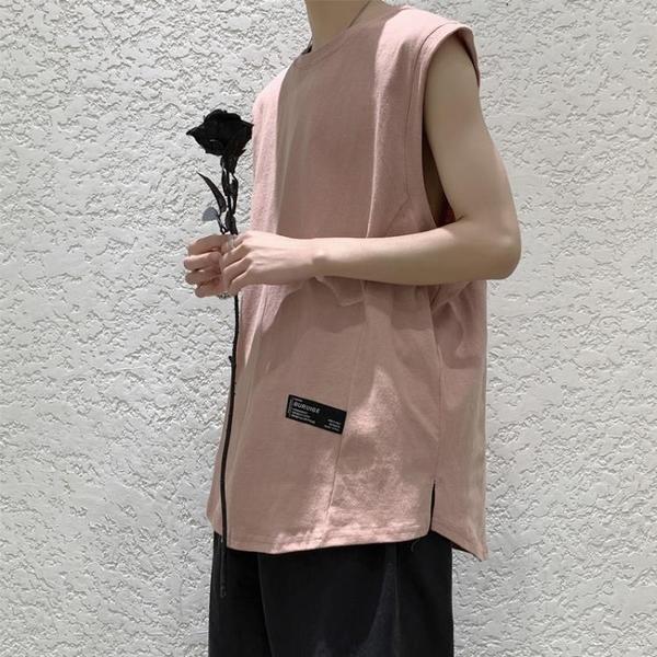 潮流背心 男士坎肩夏季寬鬆無袖t恤潮流個性潮牌背心ins運動夏天馬甲上衣服