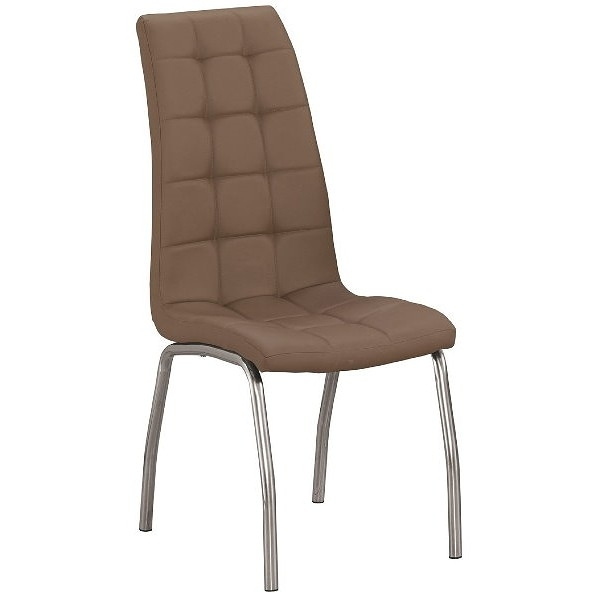 餐椅 QW-716-16 派柏咖啡色皮餐椅【大眾家居舘】