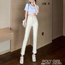 九分小腳褲緊身高腰顯瘦修身開叉直筒薄款牛仔褲女2021年夏季新款 夏季新品