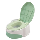 康貝 Combi 優質坐式分段訓練便器-綠雪松【送 嬰兒柔濕巾20抽(3包)】
