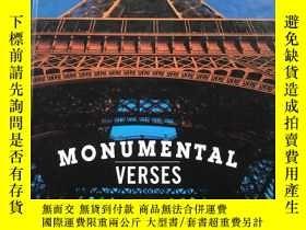 二手書博民逛書店Monumental罕見VersesY236663 J. Pat