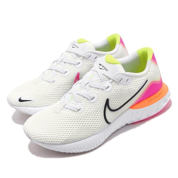 Nike 慢跑鞋 Wmns Renew Run 白 橘 粉紅 女鞋 運動鞋 【ACS】 CK6360-005