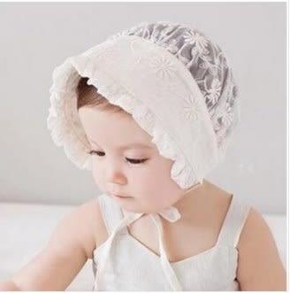 預購-春夏女寶寶胎帽 兒童帽子遮陽蕾絲太陽盆帽公主漁夫帽