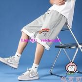 短褲男士夏季外穿休閒韓版大褲衩五分中褲運動七分褲【桃可可服飾】