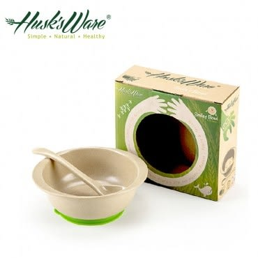 美國Husk's ware 稻殼天然無毒環保兒童小餐碗(綠色)