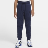 Nike Sportswear Tech Fleece 童裝 大童 長褲 棉質 保暖 藍【運動世界】CU9213-410