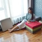 亞麻坐墊地板可拆洗夏季加厚椅墊日式方形客廳臥室榻榻米增高硬【快速出貨】