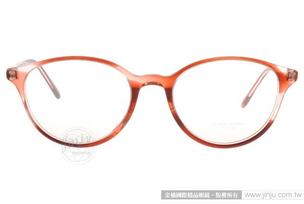 OLIVER PEOPLES 光學眼鏡 MAREEN 1574 (透棕紅) 簡約別緻氣質款 # 金橘眼鏡