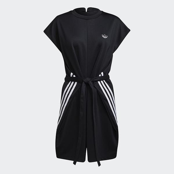 Adidas ORIGINALS BELLISTA 女裝 短袖 連身褲 寬鬆 腰身拉繩 黑【運動世界】GN3175