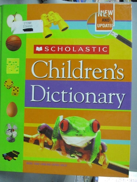 【書寶二手書T2/兒童文學_ZEJ】Scholastic Children s Dictionary_Not Avail