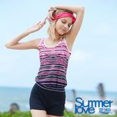 【Summer Love 夏之戀】加大碼長版兩件式泳衣(S18715)