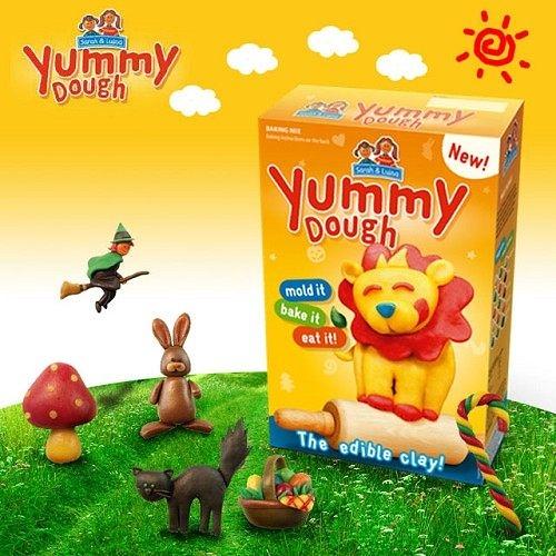 德國【Yummy Dough】魔法酷奇創意DIY彩色麵粉(可食用)=像黏土一樣好玩,還可以烤來吃=