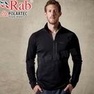 Rab QFE62-BL黑 男彈性保暖中層衣 Power Stretch Pro戶外機能服/登山排汗衣/路跑運動衫