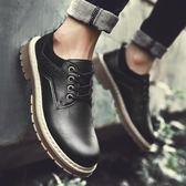 秋季短靴男韓版潮流休閒鞋工裝大頭皮鞋低筒英倫馬丁靴男靴子潮靴
