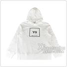 Y-3迷彩方框LOGO設計男款純棉連帽T恤(白)