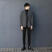 條紋襯衫長袖寬松男潮流慵懶休閒韓版襯衣【時尚大衣櫥】