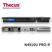 (客訂商品請來電詢問) Thecus 色卡司 N4910U PRO-R 4 Bay NAS 備援式電源 機架式 網路儲存伺服器