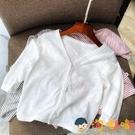 兒童長袖純棉透氣外套防曬衫空調服夏季寶寶小開衫男女【淘嘟嘟】