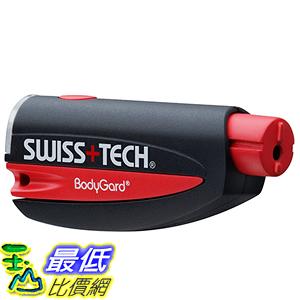 [美國直購] Swiss+Tech ST81010 破窗割安全帶 緊急自救 救援鑰匙圈 Black/Red 3合1 BodyGuard Auto Emergency